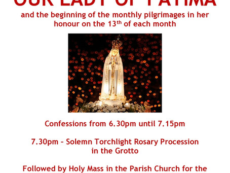 Pilgrimage in honour of Our Lady of Fatima