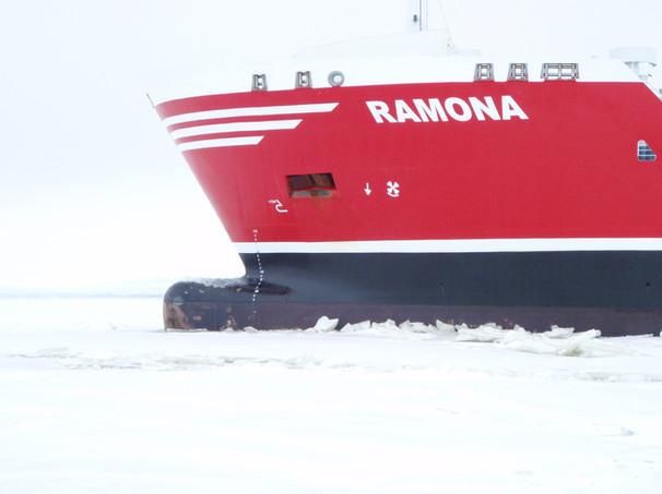 Ramona in ice