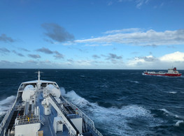 The photo is taken from Ramanda at Ramelia, when the two sisters where steaming full ahead on the English Channel in February 2020