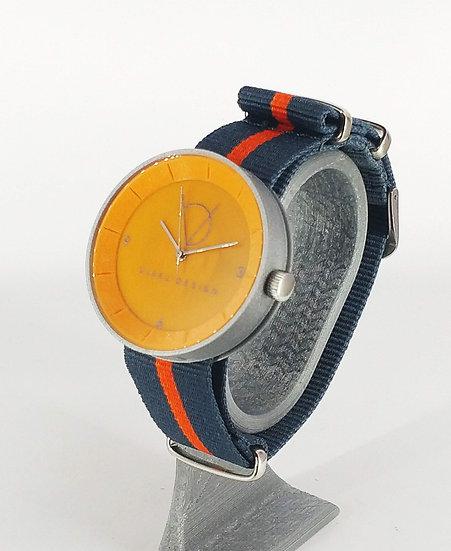 ViselDesign Watch Silver&Orange