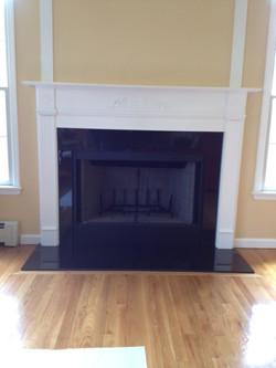 finished new granite  no doors