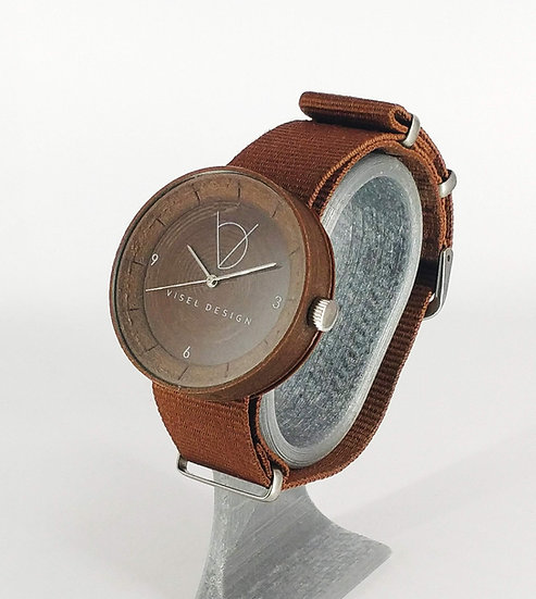 ViselDesign Watch Brown with coconut