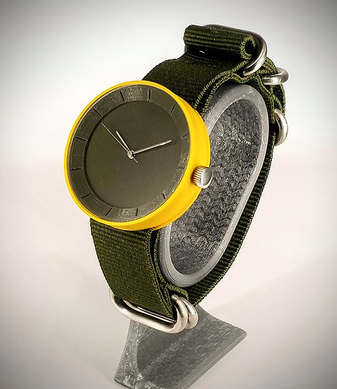 ViselDesign Watch Yellow&Olive