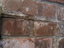 Copy of water damage to steel lintel and