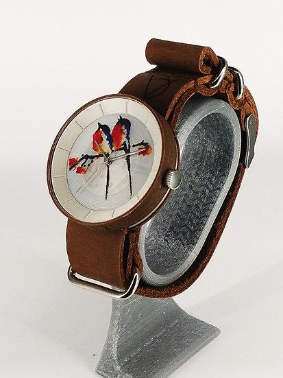 ViselDesign Watch WoodCoconut&PearlWhite