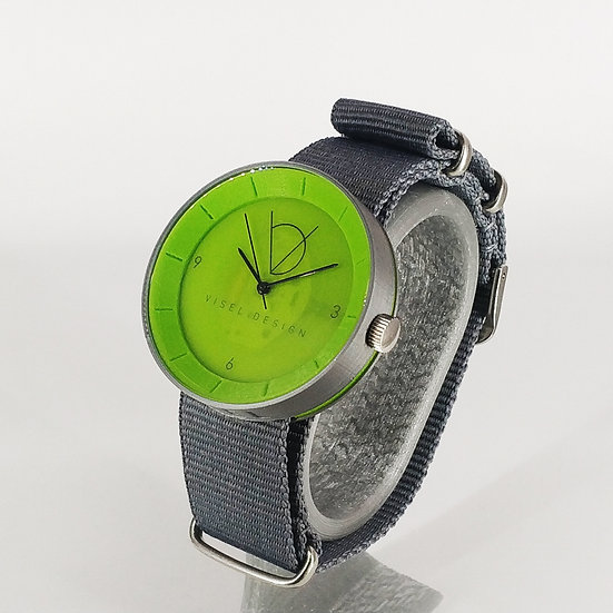 ViselDesign Watch Silver&Lime