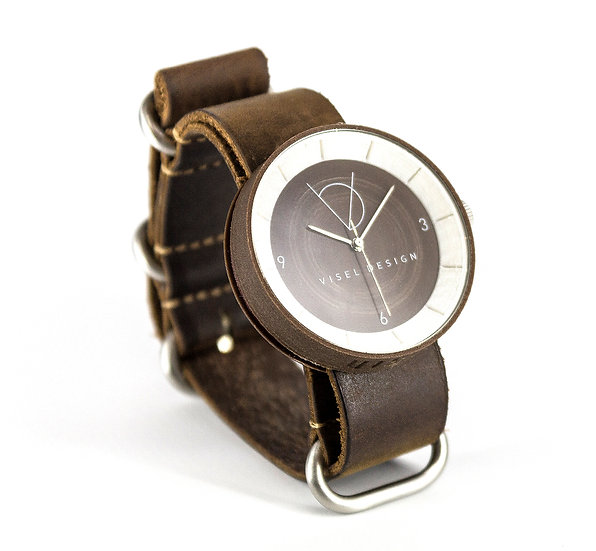ViselDesign Watch CoconutWood&Pearl