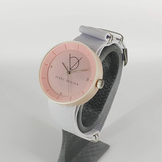 ViselDesign Watch PearlWhite&Pink watch