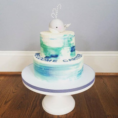 _Whale_ Baby Shower Cake