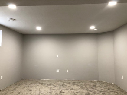 Pot Light Installation in New Basement