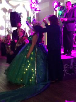 Queen Amanda being crowned