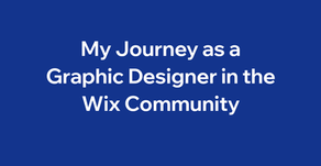 My Journey as a Graphic Designer in the Wix Community