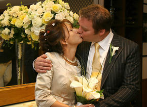 The first married kiss
