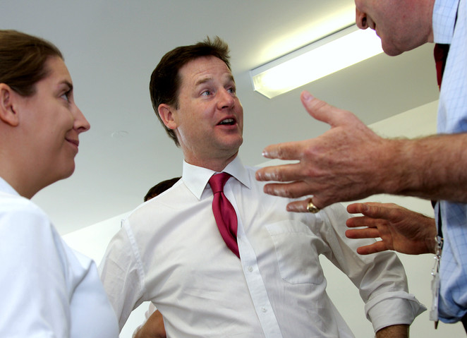 Nick Clegg visits Imperial Healthcare