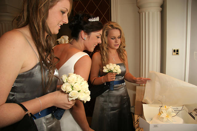 Bridesmaids with The Bride