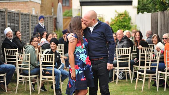 A small interment  garden wedding