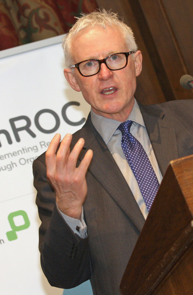Norman Lamb, Minister of State (health) speaks at a ImROC supporting recovery initiative.