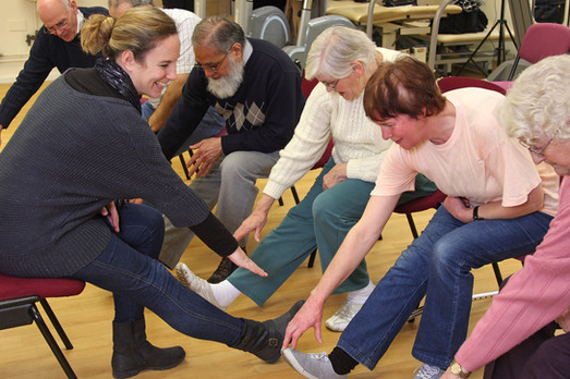 Older Adults exercise at St Pancras Hospital