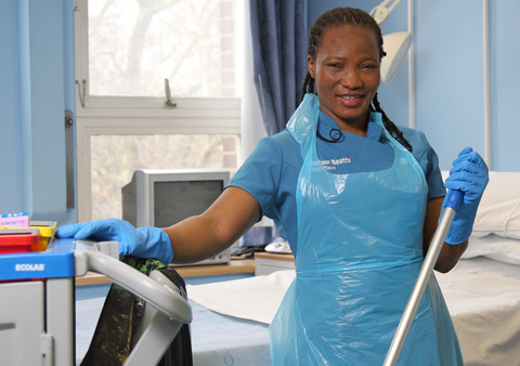 A hard working domestic assistant at St Pancras Hospital