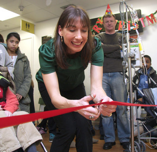 Samantha Cameron opens a child care ward at St Mary's Hospital