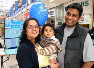 A family celebrates World Mental Health Day