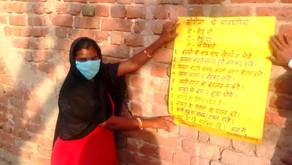 Adhikar Sakhi Pushpa's work to fight COVID-19 in Kesroli village