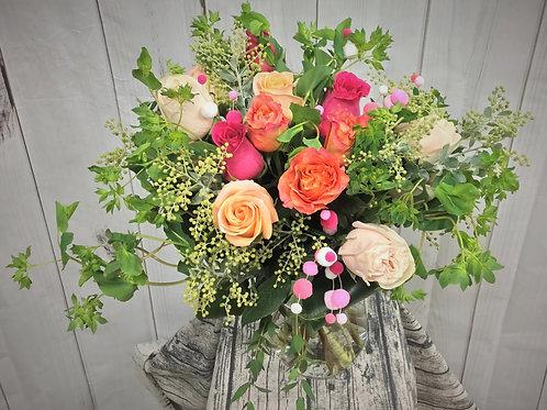 copy of Happy Silly Full Dozen Rose Bouquet