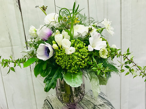 Lavenders and Whites in a vase