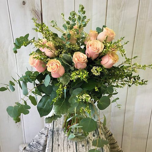 Free Spirit Full Dozen Rose Bouquet