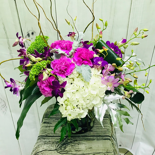 Tropical Shades of Violet in a Vase