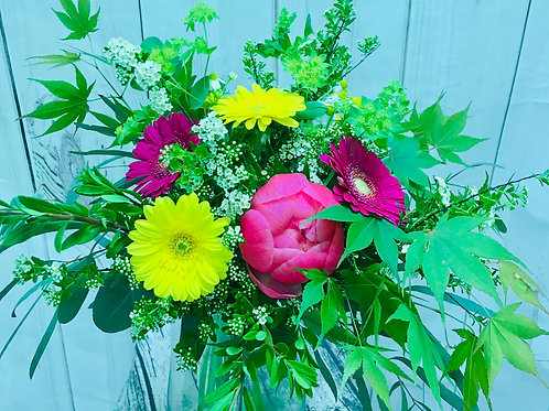 Bright Yellow and Pinks Bouquet