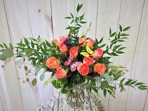 Garden Girl Full Dozen Rose Bouquet