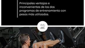 Entrenamiento de levantamiento de pesas por grupos musculares o por grupos funcionales