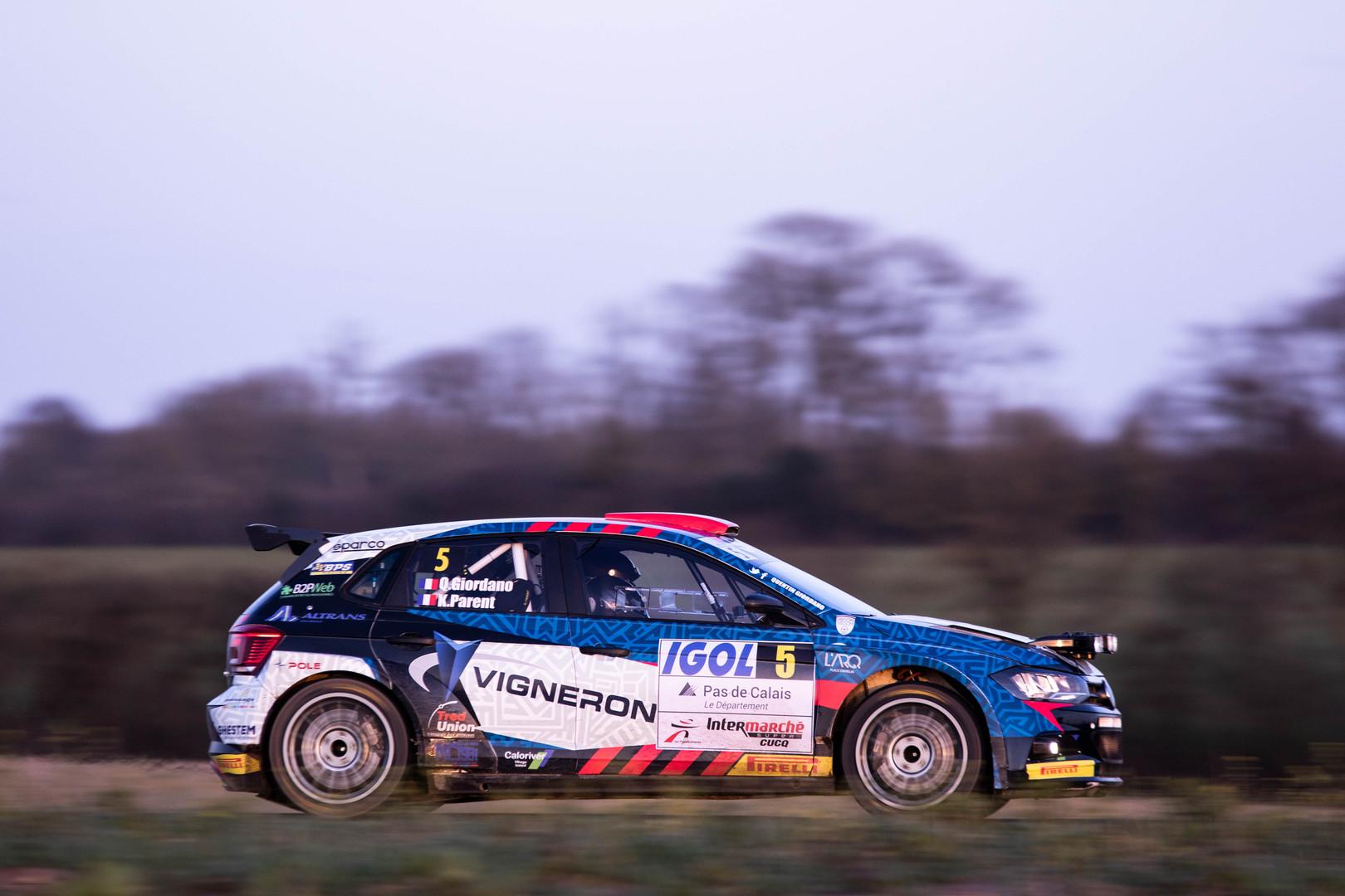 Quentin Gilbert, Rallye du Touquet 2020