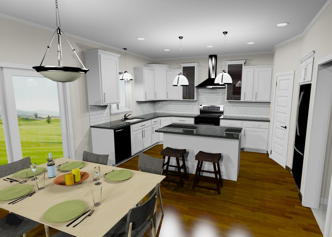 Plan D with gourmet kitchen