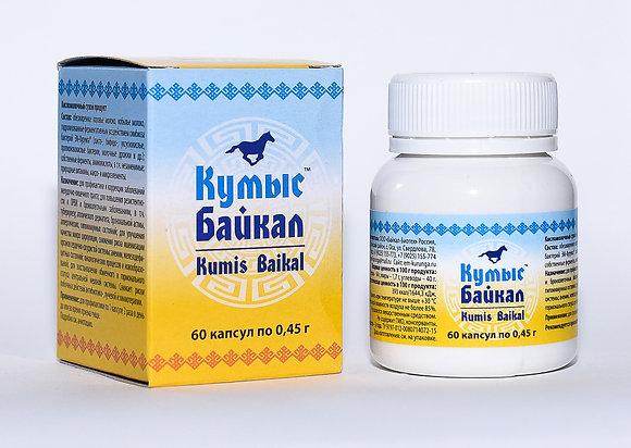 ЭМ-Курунга на молоке кобылиц Кумыс Байкал™ упак. 60 капсул по 0,45 г