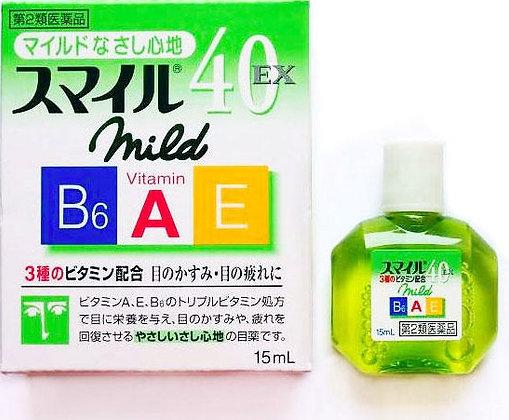 Lion Smile 40 EX Mild, глазные капли с витаминами
