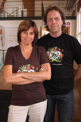 Isabella Lövin och Per Holmgren