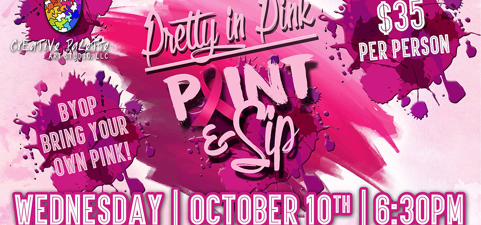 Breast Cancer Awareness Month Paint & Si