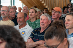 Guest and members listen intently