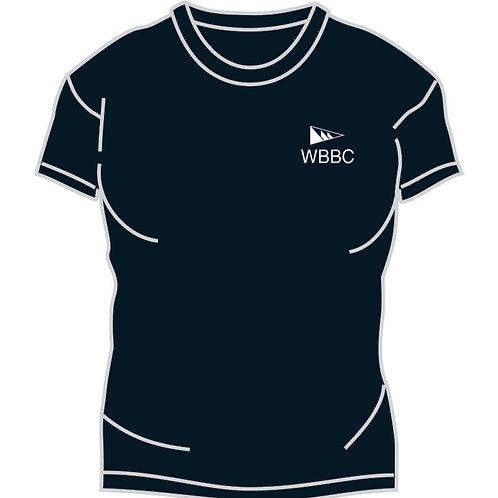Female tee shirt with small burgee