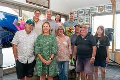 Thank you General Committee members during the five years of the rebuild project. Back Belinda Stanley, Dean Stanley, Mandy Evans, Nick Sceats. Front Glenn Stanley, Sarah Bacon, Nicola Olsen, Craig Taylor, Bob Shaw, Heather Garside (Absent Alastair Campbell, Alison Aldred, Gergaly Klar, Michael Gray, Richard Dreverman)