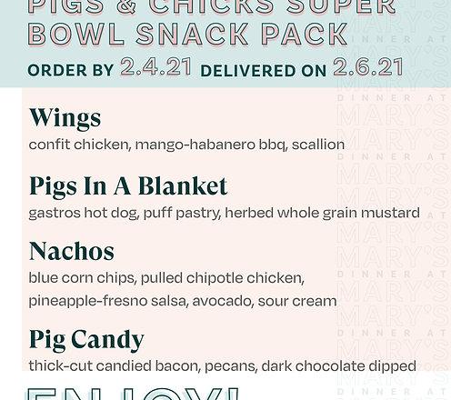 Super Bowl Snack Pack
