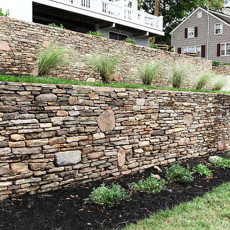 Stone Veneer and Ornamental Grasses