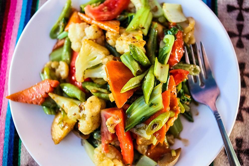 Тибетская кухня. Жареные овощи. Рецепты народов мира