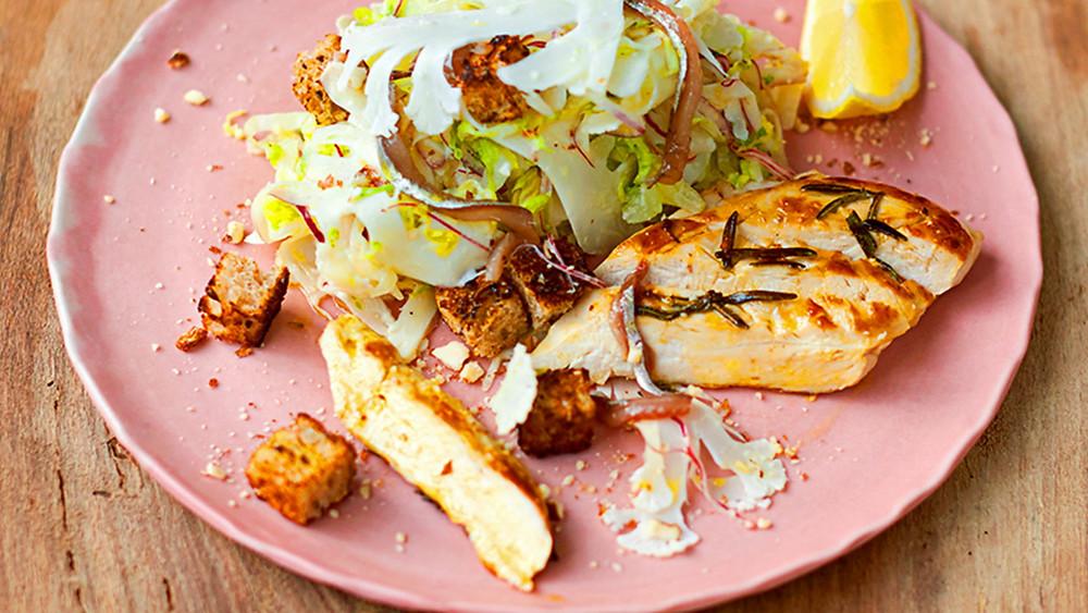 рецепт салат Цезарь как приготовить салат цезарь быстрый рецепт салата простые салаты простые рецепты полезная еда