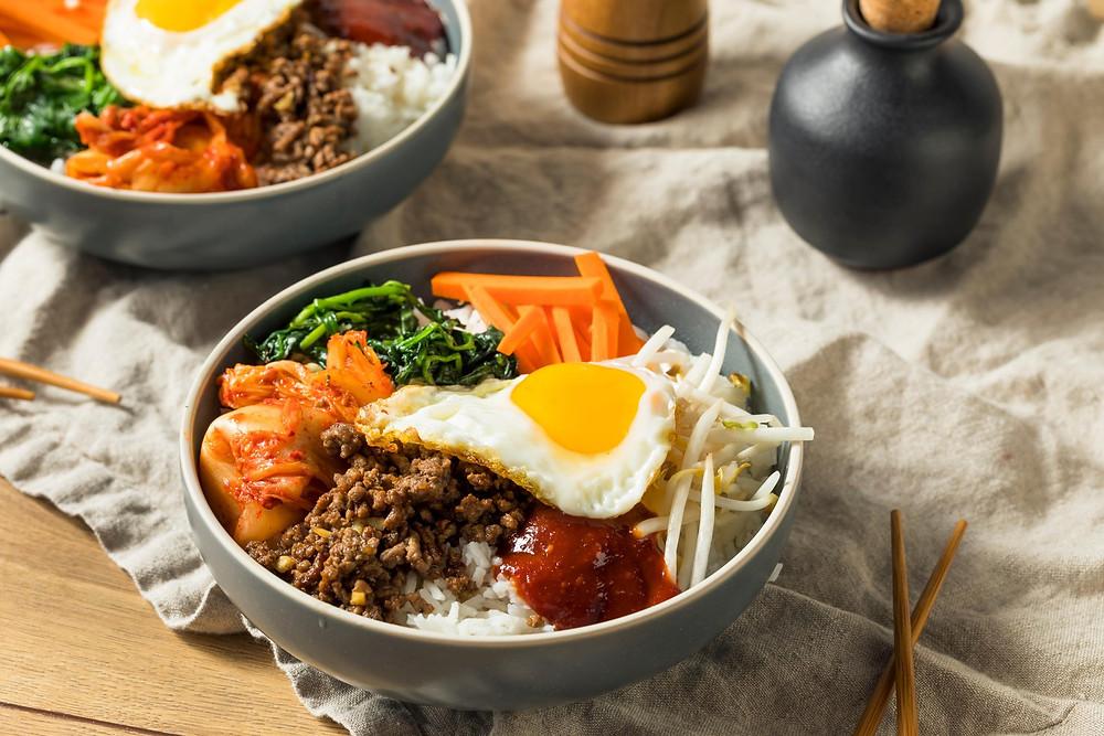 Пибимбап - национальное блюдо кухни Южной Кореи. Рецепты и обзор