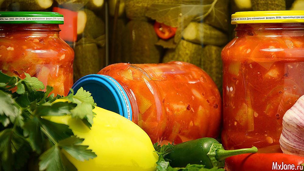 рецепт домашней заготовки из кабачков с помидорами