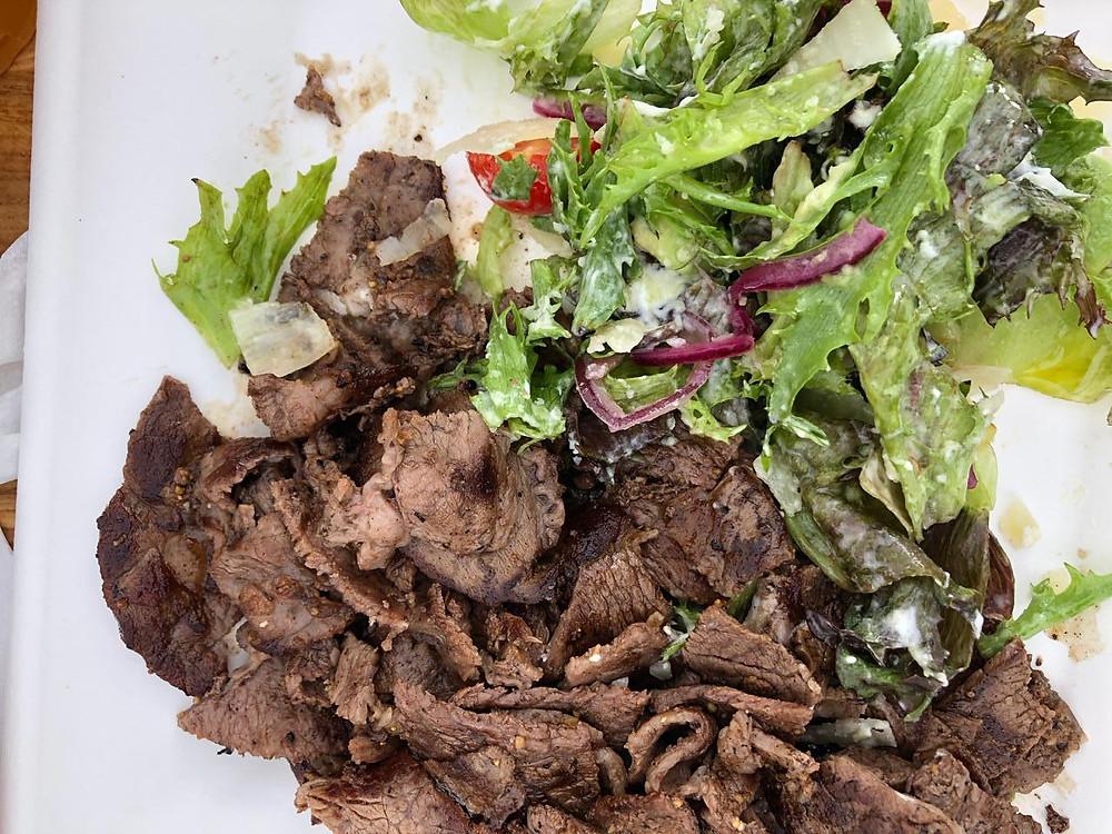 Рецепт теплого салата с ростбифом. Простые рецепты салатов. Готовим дома сами.
