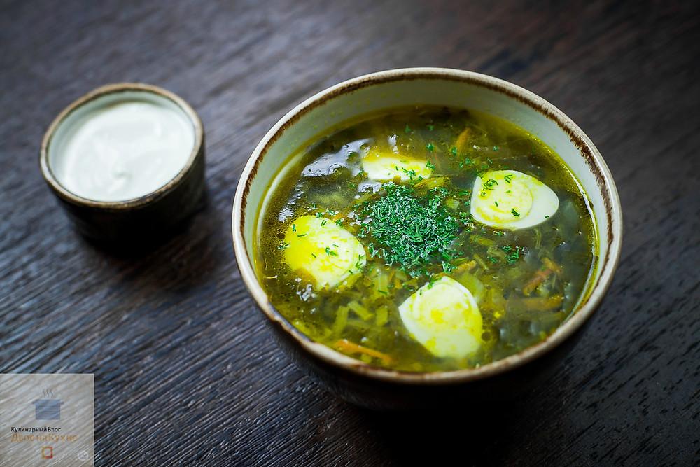 Пошаговый рецепт щавелевого супа.